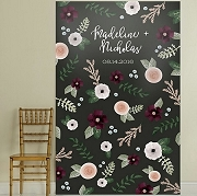 Personalized Romantic Garden Floral Photo Backdrop