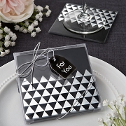 Geometric Design Glass Coasters (set of 2)