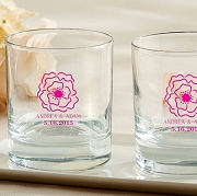 Botanical Blossom Rock Glass Favors (9 oz) - Whisky Glass