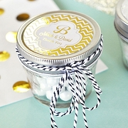 Personalized 4 oz Small Mason Jar Wedding Favor