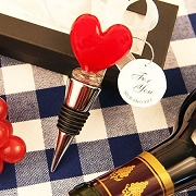 Sealed with Love Heart Murano Bottle Stopper