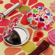 Groovy Love Hearts Compact Mirror