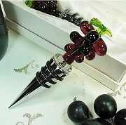 Grape Wine Bottle Stopper Murano Style