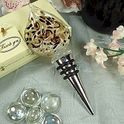 Murano Style Damask Wine Bottle Stopper