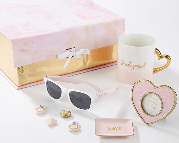 Bridesmaid gift kit bridesmaid gift ideas will you be my bridesmaid pink and gold will you be my bridesmaid kit junglespirit Gallery