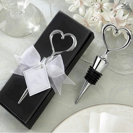 Heart Wine Wine Bottle Stopper Wedding Favors - Wine Theme Wedding