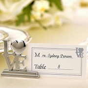LOVE Place Card Holder/Photo Holder Set of 4