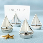 Silver Sailboat Place Card Holders (set of4)
