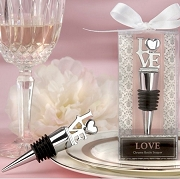 Love Chrome Bottle Stopper Wedding Favors