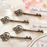 Key To My Heart Victorian Style Place Card Holder (set of 4)