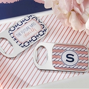 Nautical Bride Personalized Silver Bottle Opener