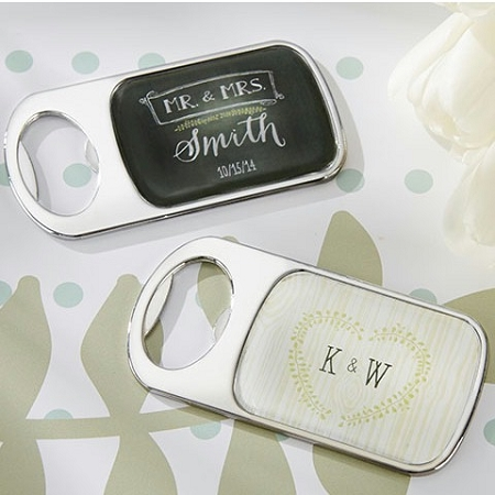 Personalized Silver Bottle Opener