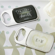 Rustic Wedding Personalized Silver Bottle Opener