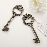 Antique Silver Bottle Opener - Key To My Heart