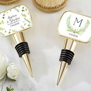 Personalized Gold Bottle Stopper - Botanical Garden