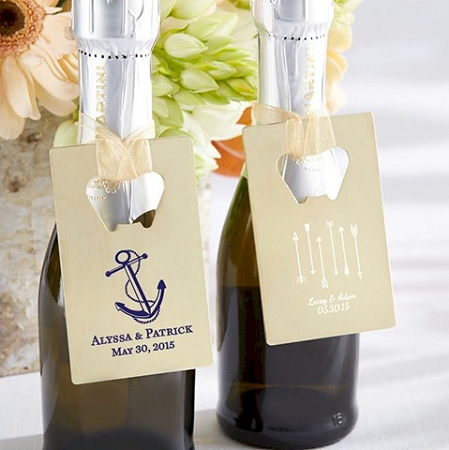 Gold Credit Card Bottle Opener Personalized Wedding And Bridal