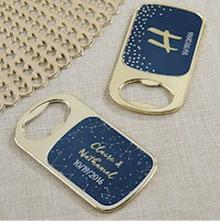 Personalized Gold Bottle Opener Under the Stars