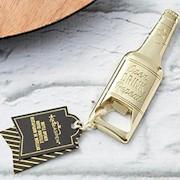 Gold Beer Shaped Bottle Opener Favor