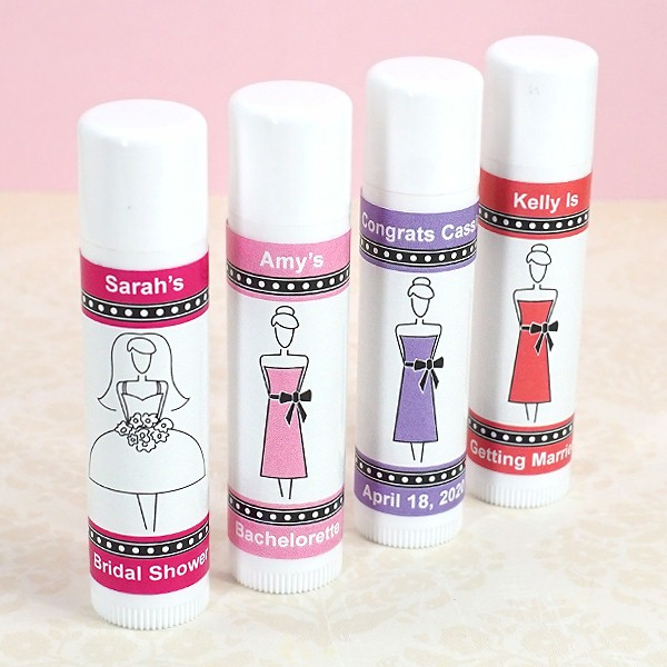 bridal shower lip balm white tube