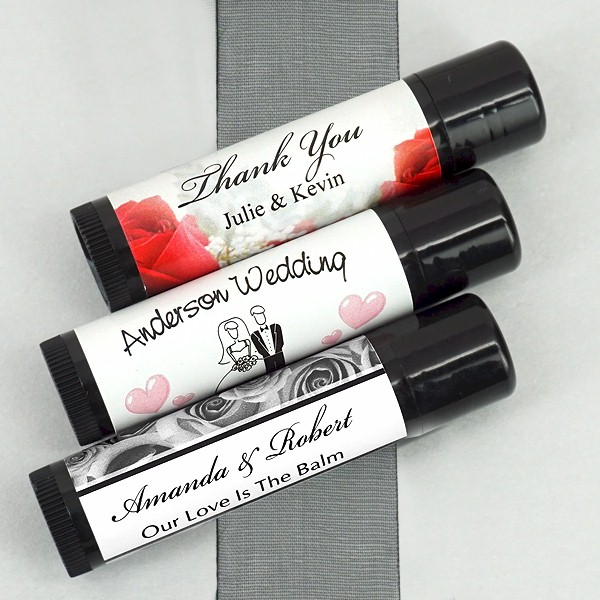 personalized lip balm bridal shower favors tropical and beach theme