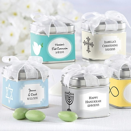 Personalized Tin Favor Box Wedding Favors Unexpected Treasures