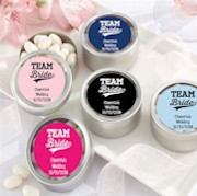 Personalized Team Bride Mint Tin Favors (Set of 12)