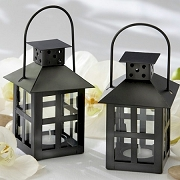 Luminous Black Mini Lantern Tea Light Holder