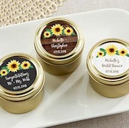Sunflower Gold Round Mint Tin (Set of 12)