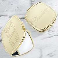 Personalized Gold Compact - Engraved