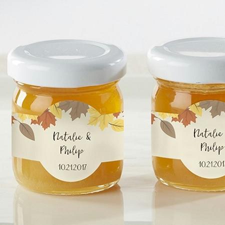 Honey Wedding Favors.Honey Bee Favors Fall Leaves Set Of 12