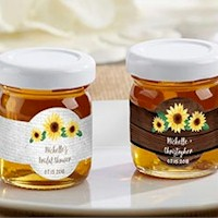 Honey Jar Favors - Sunflower Design (Set of 12)