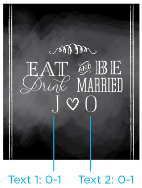 Eat, Drink & Be Married Labels