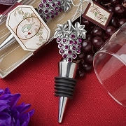 Grape Designe Wine Bottle Stopper - Vineyard Collection