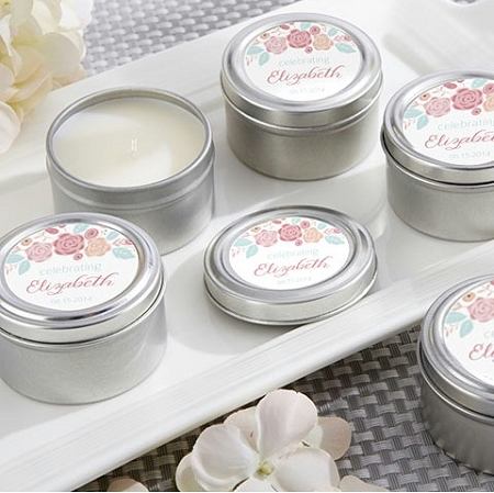 Personalized Travel Tin Candle Bridal Shower Favors ...