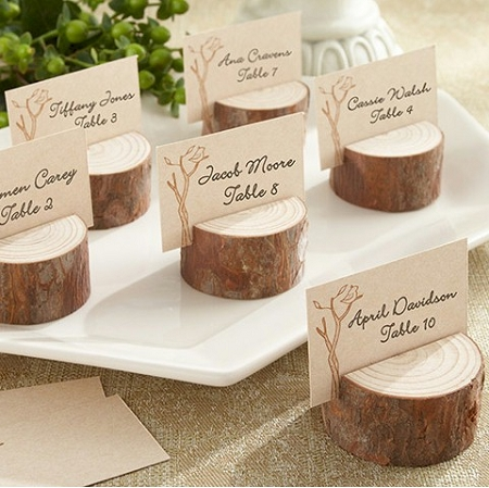 Wedding Place Cards.Rustic Real Wood Place Card Holder Set Of 4