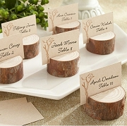 Rustic Real Wood Place Card Holder (Set of 4)