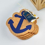 Nautical Anchor Cork Coaster (Set of 4)
