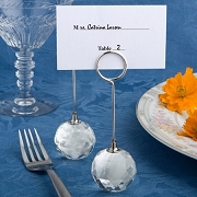 Choice Crystal Crystal Ball Place Card Holders