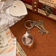 Choice Crystal Glass Globe Key Chain
