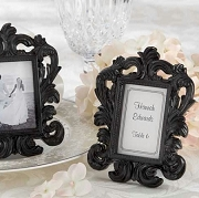 Black Baroque place Card Frame