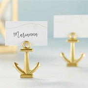 Gold Nautical Anchor Place Card Holder (Set of 6)