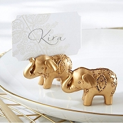 Lucky Golden Elephant Placecard Holder (set of 6)