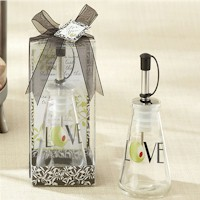 Olive You Glass LOVE Oil Bottle in Tuscan Box