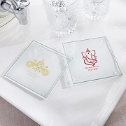 Personalized Glass Coasters - Indian Jewel (Set of 12)