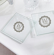 Personalized Glass Coasters - Medallion (set of 12)