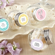 Personalized Mini Glass Jar Favors (set of 12) - Wedding