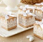 Rustic & Lace Kraft Favor Box Set of 24