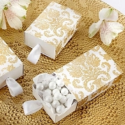 Treasures Gold Damask Favor Box (set of 24)