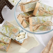 Around the World Map Favor Box (set of 24)