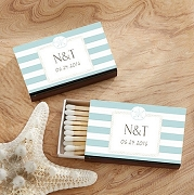 Matchbox Favors (Set of 50) - Sand Dollar Design